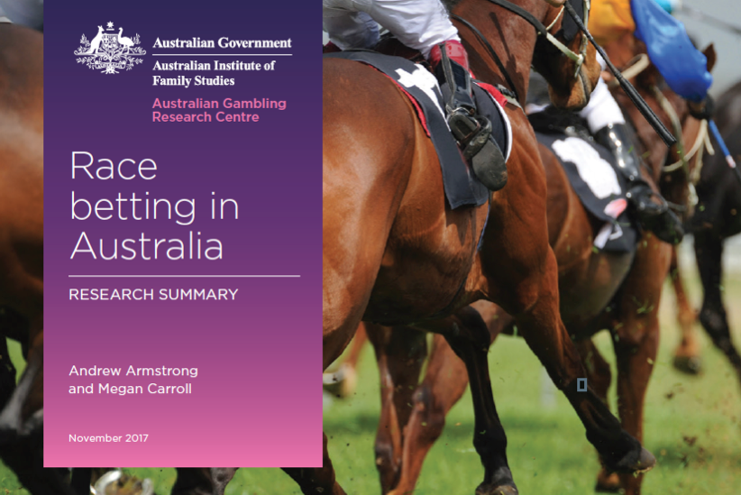 Australian Government Report shows that people who bet on races are twice as likely to experience gambling-related problems as the average Australian gambler.